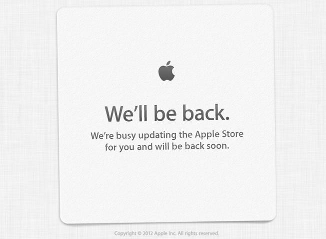 Из-за сегодняшнего выхода iPhone 5 закрыт Apple Store