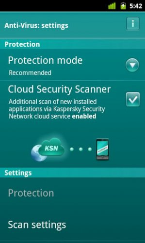 Kaspersky Mobile Security - сфотографируй вора