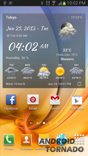 Android Weather для android