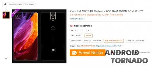 Xiaomi Mi MIX 2 появился на GearBest с 8 ГБ RAM