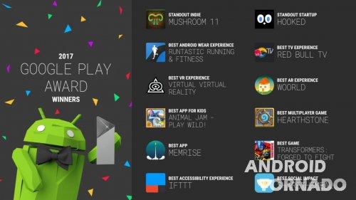 Объявлены победители Google Play Award 2017