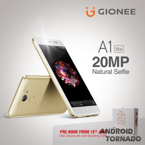 Представлен Gionee A1 Lite: 20 МП для селфи и 4000 мАч для долгой работы