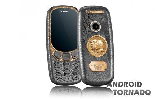 Nokia 3310 (2017) от Caviar: теперь с Путиным и Трампом